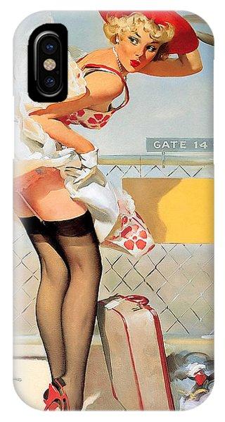 Luggage Accident Pin-up Girl IPhone Case