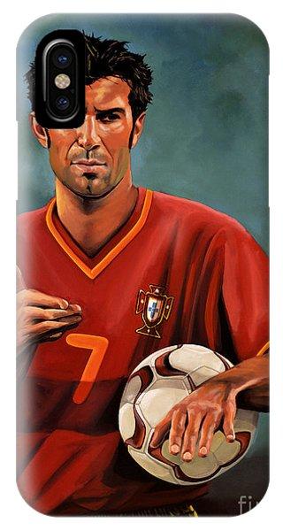 Or iPhone Case - Luis Figo by Paul Meijering