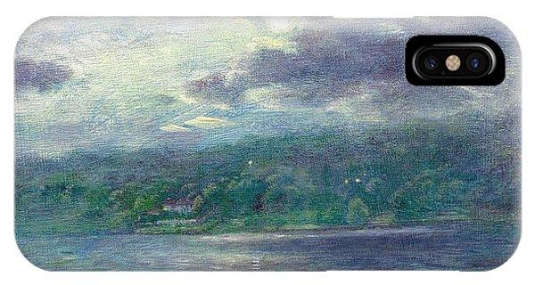 Luminous Moon Over Lake IPhone Case