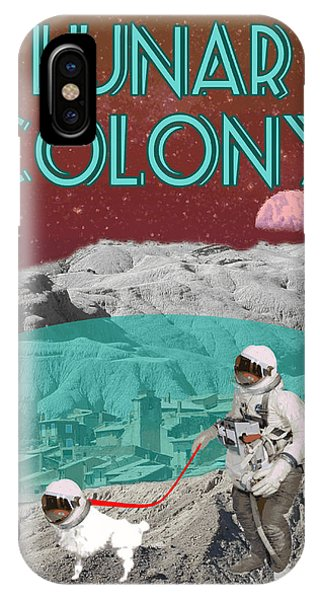 iPhone Case - Lunar Colony Coming Soon Advertisement by