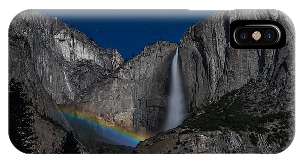 Lunar Moonbow At Yosemite Falls IPhone Case