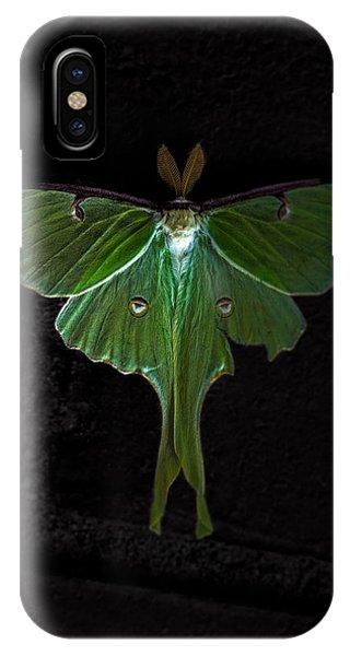 Moth iPhone Case - Lunar Moth by Bob Orsillo