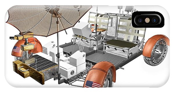 Battery D iPhone Case - Lunar Roving Vehicle by Carlos Clarivan/science Photo Library