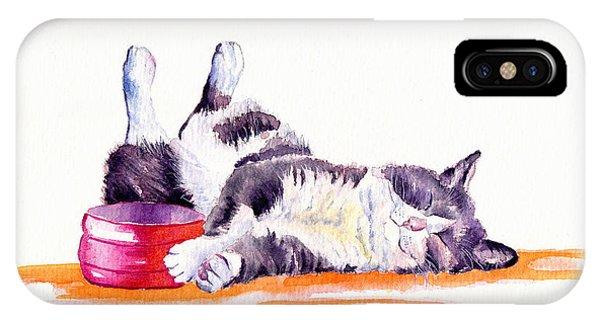 Cats iPhone Case - Lunch Break by Debra Hall