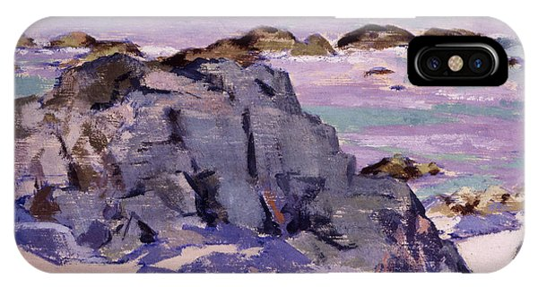 Violet iPhone Case - Lunga From Above Mermaids by Francis Campbell Boileau Cadell