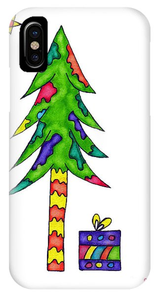 Lupita iPhone Case - Lupita Christmas Tree by Emily Lupita Studio