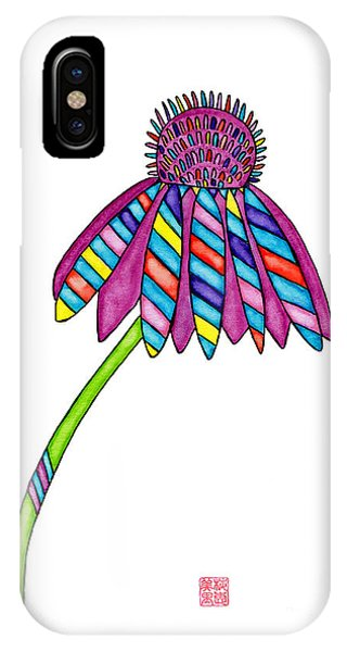 Lupita iPhone Case - Lupita Cone Flower 1 by Emily Lupita Studio