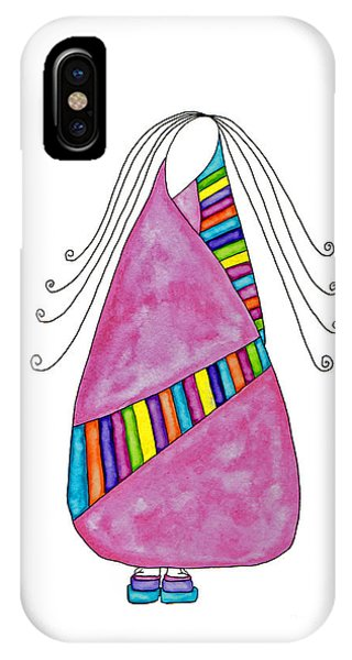 Lupita iPhone Case - Lupita Dances With Rainbow Colors 1 by Emily Lupita Studio
