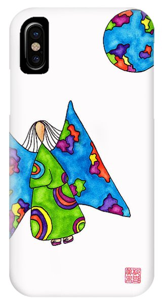 Lupita iPhone Case - Lupita Flies Around The World 1 by Emily Lupita Studio