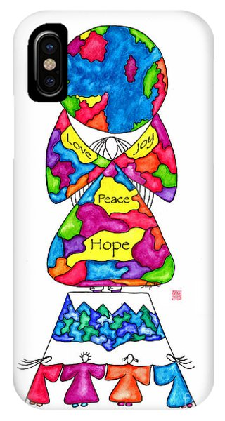 Lupita iPhone Case - Lupita Hope Mountain 1 by Emily Lupita Studio