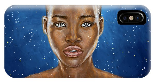 Lupita iPhone Case - Lupita Nyong'o A Beauty Simply Out Of This World  by Neil Feigeles