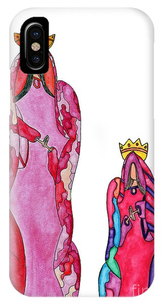 Lupita iPhone Case - Lupita Queen And Princess Red 1 by Emily Lupita Studio