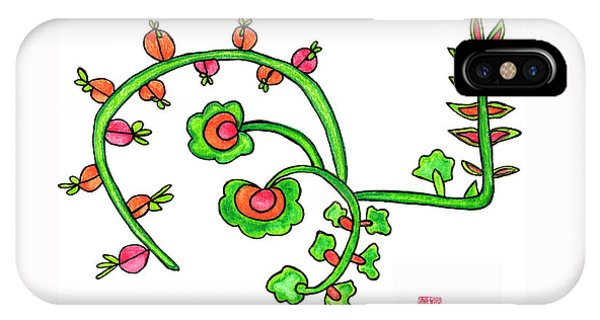 Lupita iPhone Case - Lupita Turkish Flower Green 1 by Emily Lupita Studio