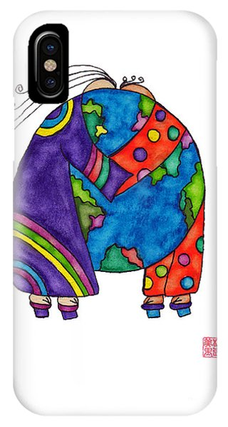 Lupita iPhone Case - Lupita You Are My World 1 by Emily Lupita Studio