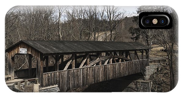 Luther's Mill Covered Bridge IPhone Case
