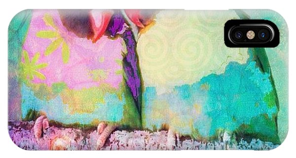 Watercolor iPhone Case - Luvbirds...a #digitalcollage #birdart by Robin Mead