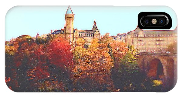 Luxembourg City Skyline IPhone Case