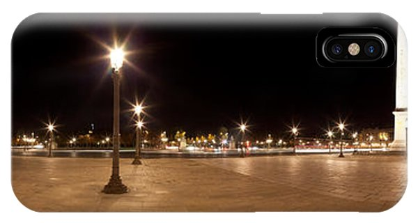 Concorde iPhone Case - Luxor Obelisk At Night, Place De La by Panoramic Images