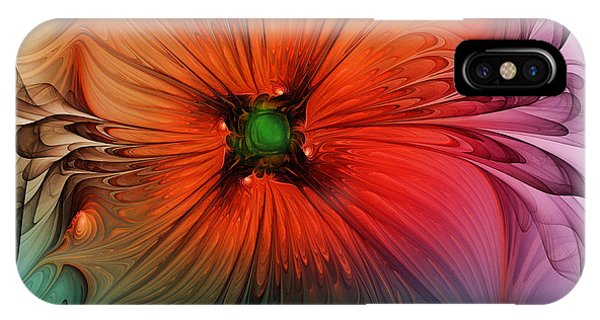 Luxury Blossom Dressed In Velvet And Silk IPhone Case