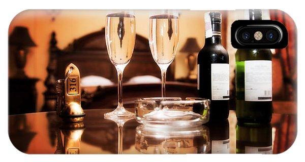 Luxury Interior Hotel Room With Elegant Service IPhone Case