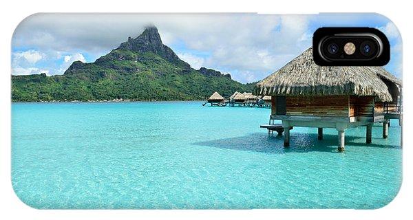 IPhone Case featuring the photograph Luxury Overwater Vacation Resort On Bora Bora Island by IPics Photography