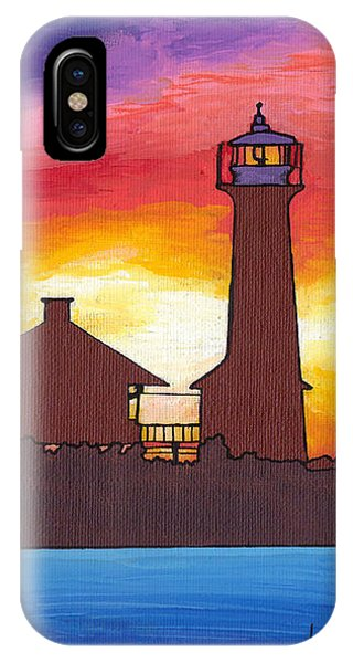 Lydia Anne Lighthouse At Sunset IPhone Case