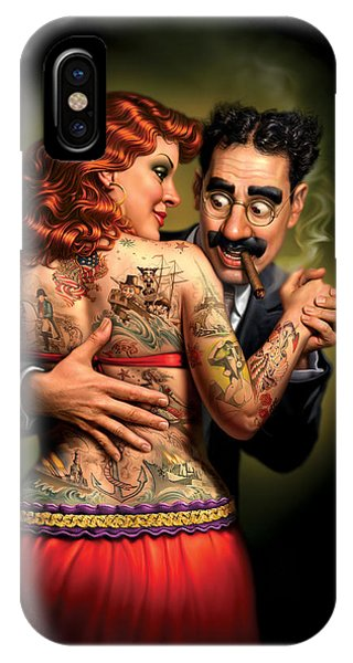 Lydia The Tattooed Lady IPhone Case
