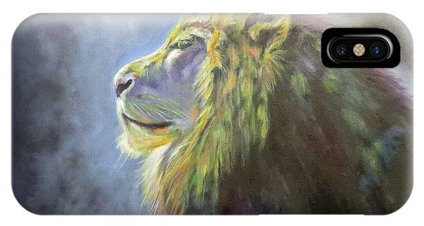 Lying In The Moonlight, Lion IPhone Case