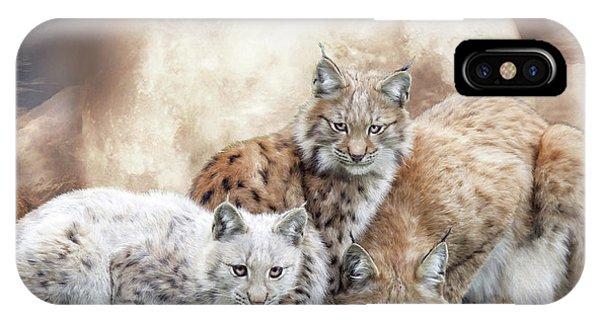 Lynx iPhone Case - Lynx Moon by Carol Cavalaris