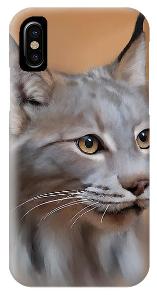 Lynx Portrait IPhone Case