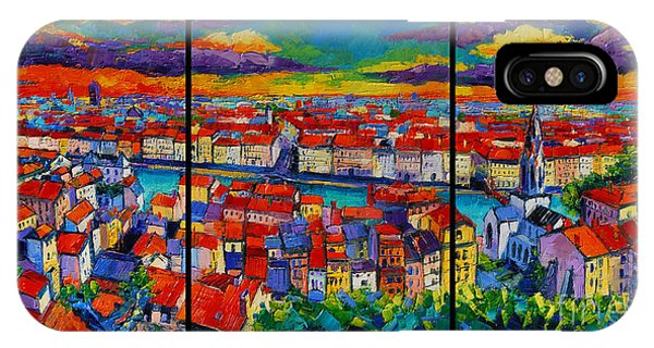 Lyon Panorama Triptych IPhone Case