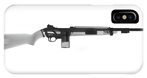 Calico M100 iPhone Case - M1 Carbine X-ray Photograph by Ray Gunz