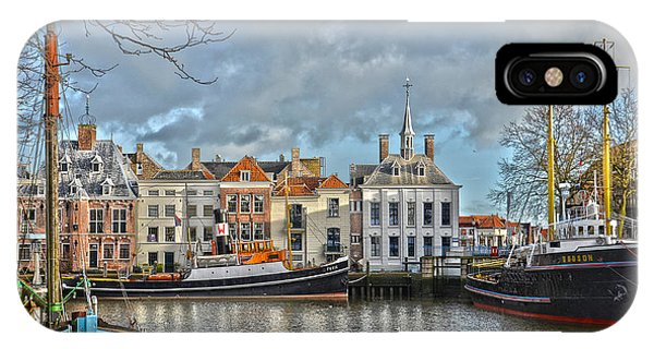 Maassluis Harbour IPhone Case