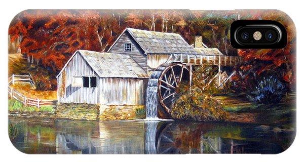 Mabry Mill Blue Ridge Virginia IPhone Case