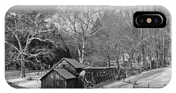Mabry Mill In Snow IPhone Case