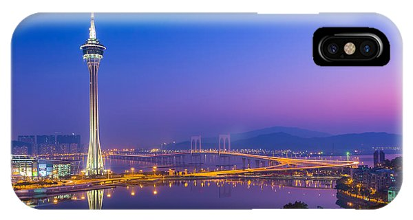 Macau Tower In China Phone Case by Nattee Chalermtiragool