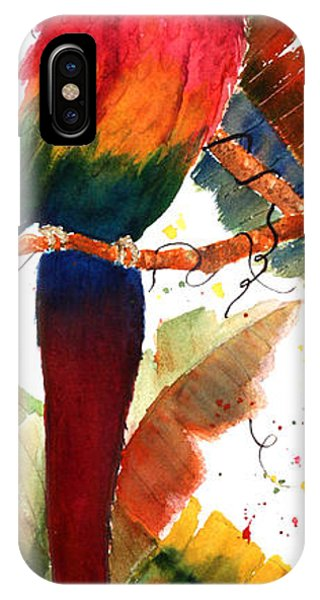Macaw Feathers Phone Case by Patricia Novack