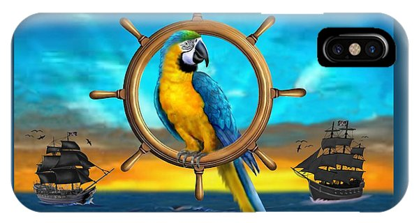 Macaw Pirate Parrot IPhone Case