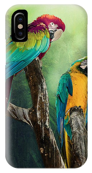 Macaws Siesta Time IPhone Case