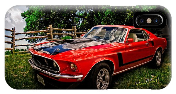 1969 Ford Mach 1 Mustang IPhone Case