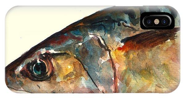 Lure iPhone Case - Mackerel Fish by Juan  Bosco