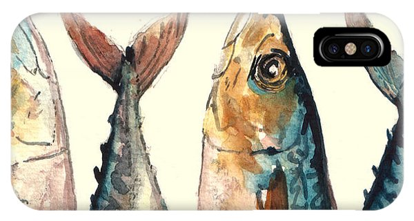 Lure iPhone Case - Mackerel Fishes by Juan  Bosco