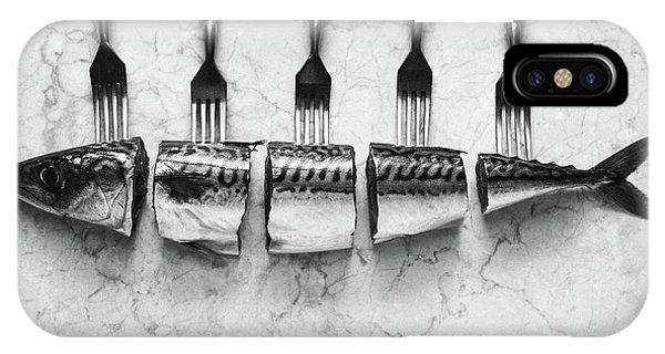 Dinner iPhone Case - Mackerel&forks by Aleksandrova Karina