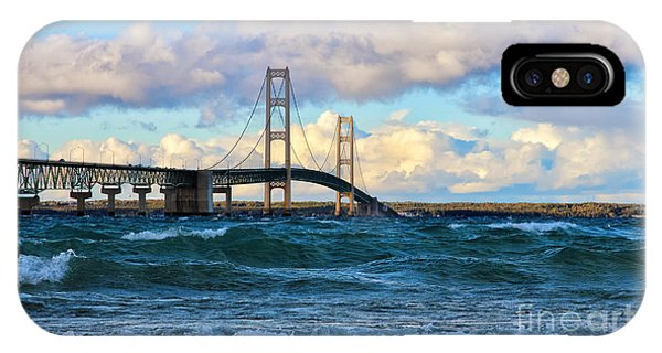 Mackinac Among The Waves IPhone Case