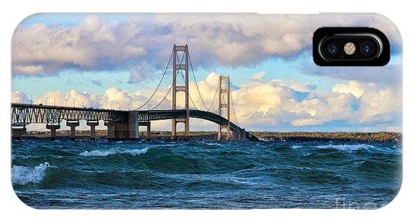 Mackinac Among The Waves IPhone Case