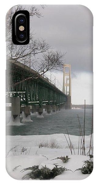 Mackinac Bridge At Christmas IPhone Case