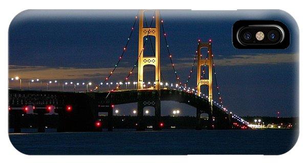 Mackinac Bridge At Dusk IPhone Case