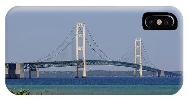 Mackinac Bridge Blue IPhone Case
