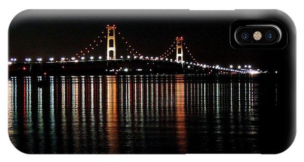 Mackinac Bridge Lights IPhone Case