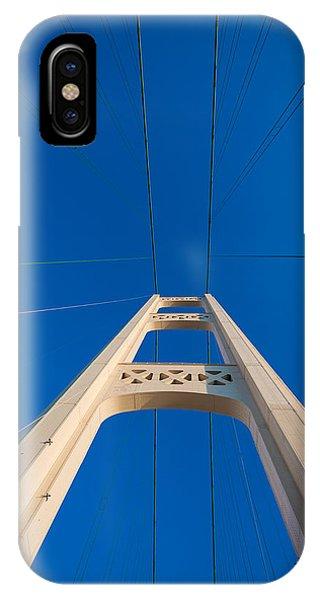 Mackinac Bridge South Tower IPhone Case